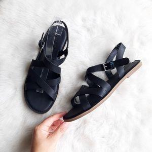TOMS | Sicily Leather Sandals - Black